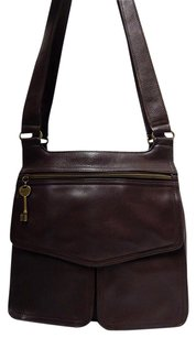 Fossil Vintage Leather Multi Pocket Shoulder Bag