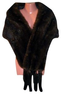 Fourrure Mink Sable Fur Fur Stole Top Brown