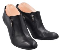 Franco Sarto Womens Ankle Leather Heels Black Boots