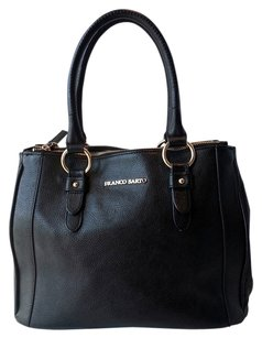 Franco Sarto Clarkson Pebbled Leather Tote in Black
