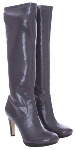Franco Sarto Leather Knee High Platform GRAY Boots