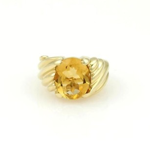 FRED Fred 18kt Yellow Gold 3.70ctw Oval Shape Citrine Solitaire Ring