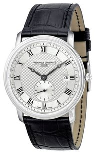 Frédérique Constant Frederique Constant Classics Silver Dial Black Leather Mens Watch 245M5S6