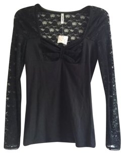 Free People T Shirt Blac