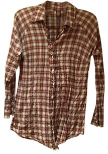 Free People Button Down Shirt multicolors