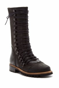 Free People Fleet Edgy Urban Black Boots