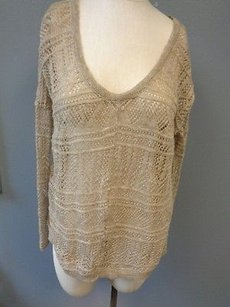Free People Crochet Knit Sweater