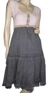 Free People short dress beige, gray on Tradesy