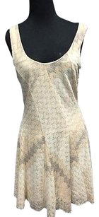 Free People short dress Cream People Stretch Textured Sleeveless A Line Mini 2818a on Tradesy