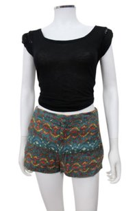 Free People Multicolor Mid Rise Dress Shorts Multi-Color