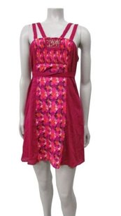 Free People short dress Raspberry multi Geometric on Tradesy