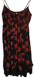 Free People short dress Red Black Purple on Tradesy