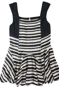 Free People Free Knit People Striped Ss Top