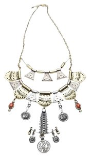 Free People Free People Shield Layered Necklace Brass $88
