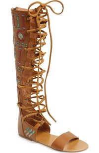 Free People Bellflower Embroidered tan Sandals