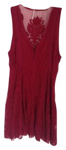 Free People short dress Crimson, Red Mini on Tradesy