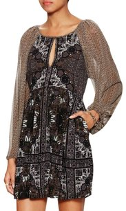 Free People short dress Longsleeve Print A-line on Tradesy
