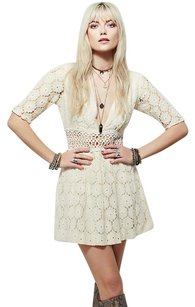 Free People short dress ivory Parker on Tradesy