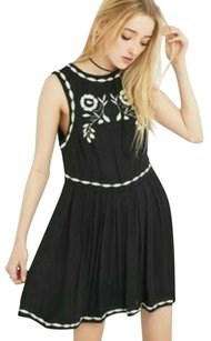 Free People short dress Pleated Embroidered Sleeveless on Tradesy