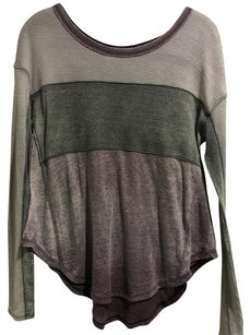 Free People T Shirt Purple Grey