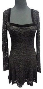 Free People People Rayon Blend Lacie Long Sleeve Open Sma10095 Dress