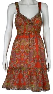 Free People People Womens Floral Silk Summer Sheath Dress