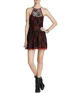 Free People short dress Red Wish Upon A Star Lace on Tradesy