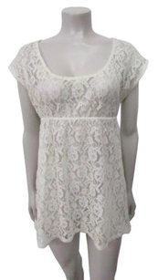 Free People Sheer Lace Top Cream