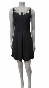 Free People short dress Black The Waffle Knit Open on Tradesy