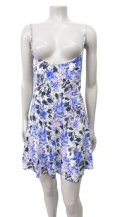 Free People short dress blue white Multi Floral on Tradesy