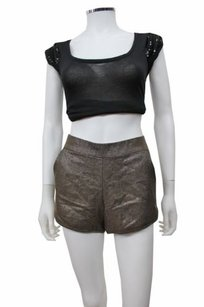 French Connection Crepe Hot Pant Shorts gray