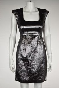 French Connection Womens Textured Metallic Casual Dress