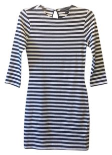 French Connection short dress Navy/White Stripe Cotton Nautical on Tradesy