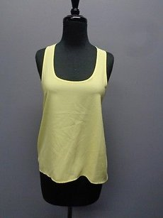 Frenchi Stretchy Back Pleated Lightweight Casual Sm10573 Top Neon Yellow