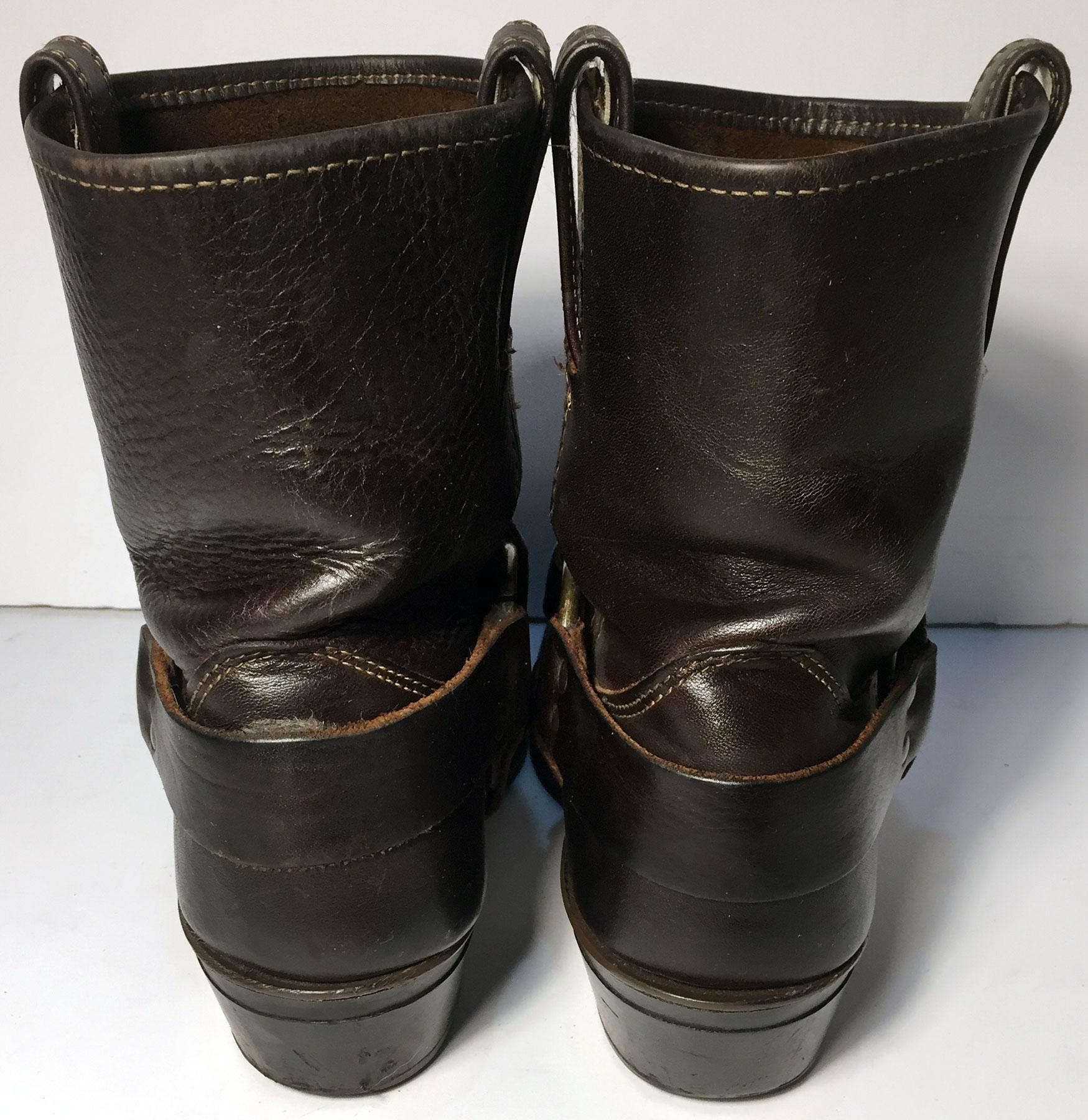 frye 77455 harness leather pull on motorcycle size 8