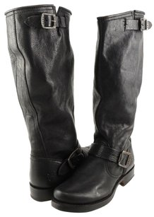Frye Veronica Slouch Leather Womens Designer High Riding Black Boots