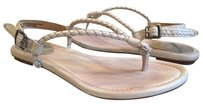 Frye Braided Leather Silver Multi Sandals