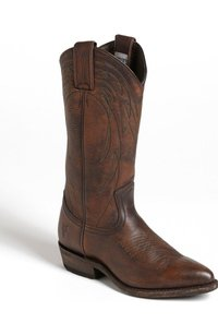 Frye Billy Western Cowboy Brown Boots