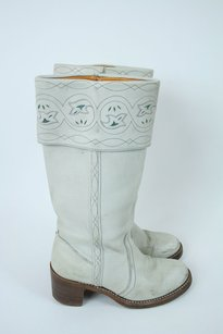 Frye Vintage Leather White Boots