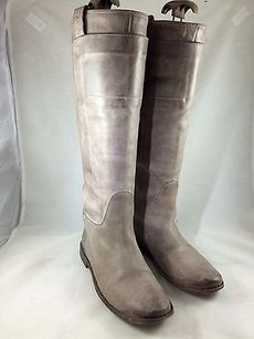 Frye Distressed Leather Taupe Boots