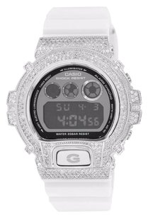 G-Shock Custom G-shock Watch Simulated Diamonds Digital Alarm Chrono Dw6900nb-7 White