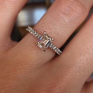 Emerald Cut- Diamond Engagement Ring- Custom Made