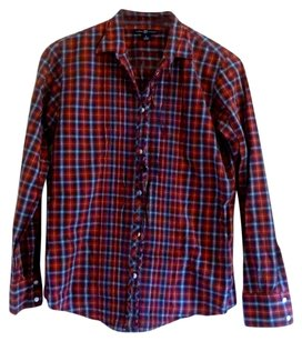 Gap Button Down Shirt Red Plaid