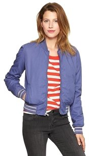 Gap Bomber Quilted Lined sapphire blue Jacket