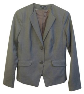 Gap Suit Jacket Fitted Tailored Grey Blazer
