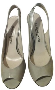 Gastone Lucioli Patent Leather Made In Italy Gray and silver Formal