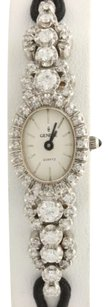 Geneve Geneve Diamond Ladies Watch - 14k White Gold Womens Quartz Strap 1.75ctw