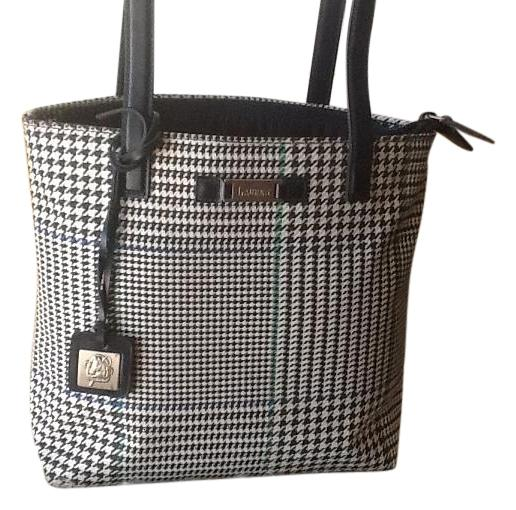 Genuine Ralph Lauren Houndstooth Navy leather