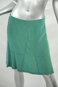 GERARD DAREL Womens Flouncy Flowy Silk 636 Skirt Green