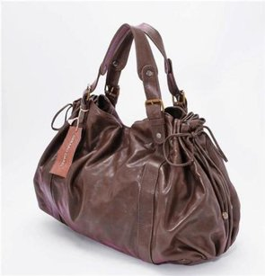 GERARD DAREL Leather Tote in Brown
